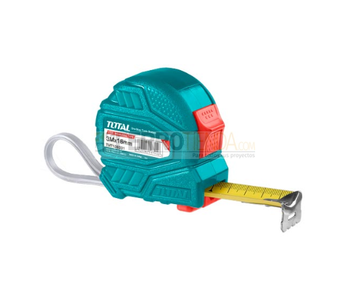 Flexometro de ABS TOTAL Metros/Pulgada 5Mx25mm