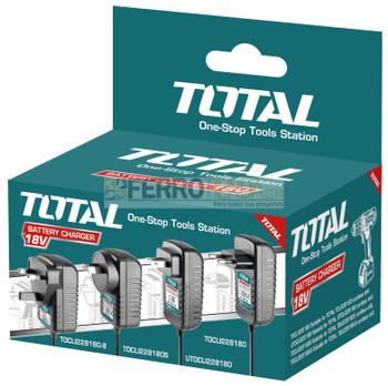Cargador de Bateria TOTAL compatible taladro UTDLI228180- UTIDLI228180