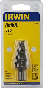 Broca escalonada UniBit, de Irwin Tools, de 9/16 a 1 pulgada