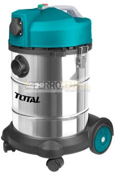 Aspiradora Industrial TOTAL seco-mojado 1400 W 30 litros
