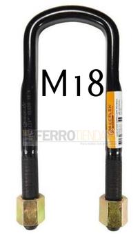 Abrazadera correa semi-redonda con tuerca rosca M18 MERCEDES 1318, MERCEDES 1721