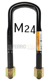 Abrazadera correa semi-redonda con tuerca rosca M24 FTR