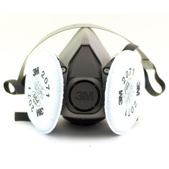 RESPIRADOR MEDIA CARA 6200S con filtro 2071 P95