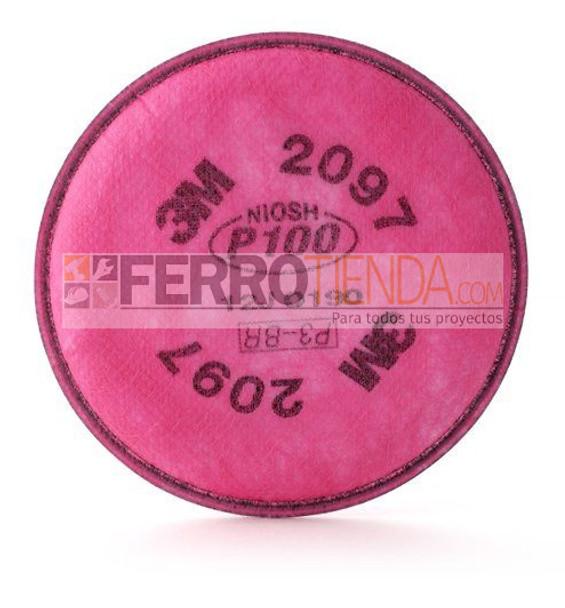 Filtro 3m 2097 P100  ROSADO  (par)