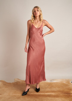 Savanah Slip Dress Burnt Rose