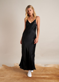 Savanah Slip Dress Black