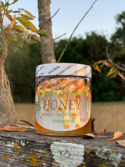One of the most popular products from Nature's Joint. Our raw honey comes from a local Texas beekeeper and we carefully infuse it with full spectrum Hemp Extract. Skeptical about CBD products? This is the true one to try!  | 325mg 3oz / 650mg 6oz
