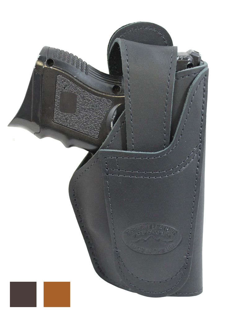 Leather 360Carry 12 Option OWB IWB Cross Draw Holster for Compact 9mm 40 45 Pistols