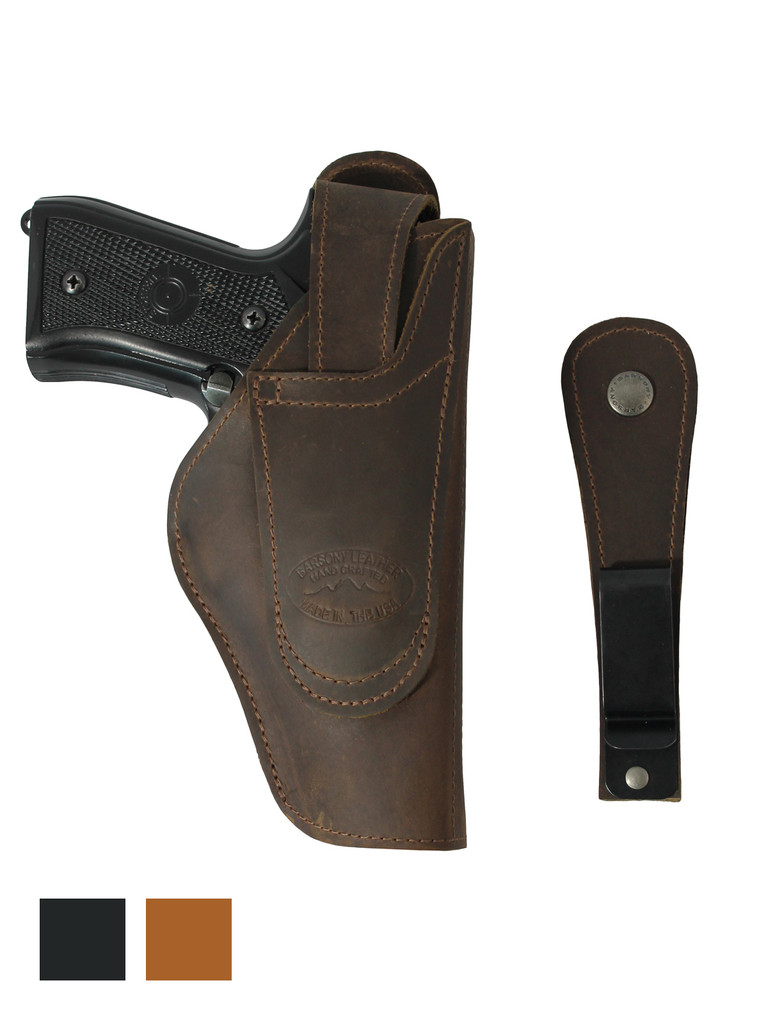 Leather 360Carry 12 Option OWB IWB Cross Draw Holster for Full Size 9mm 40 45 Pistols