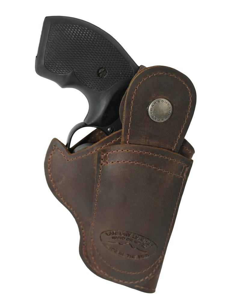 Left hand draw belt loop holster- back