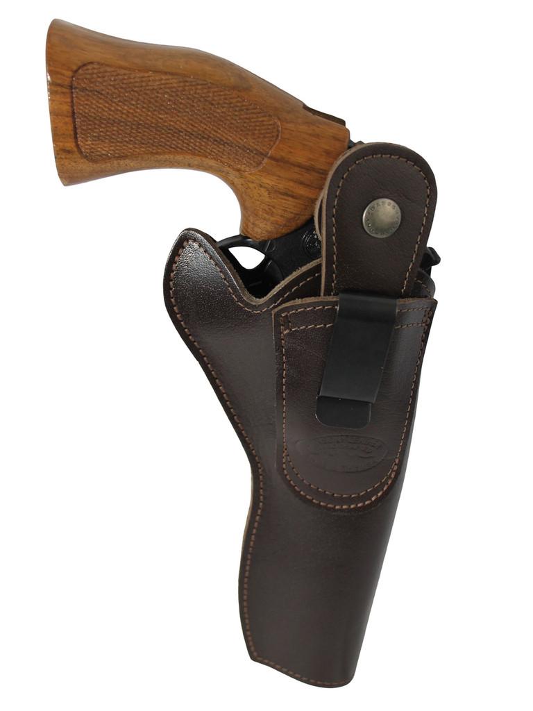 Left hand draw belt clip holster