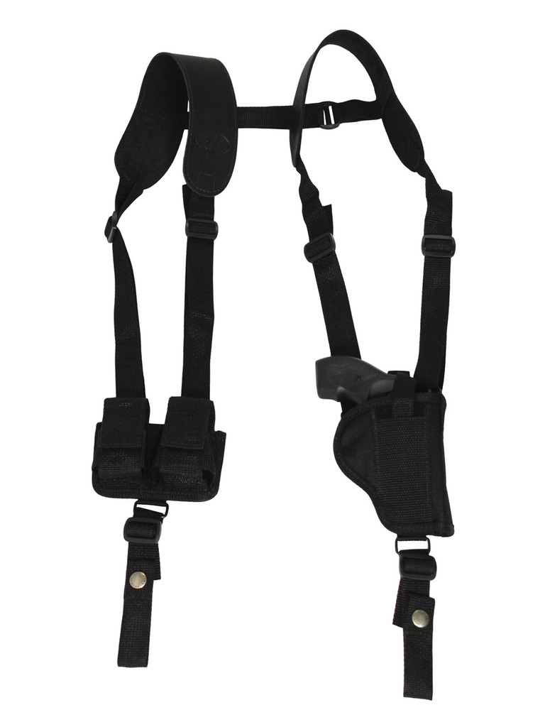 "Vertical Shoulder Holster w/ Speed-loader Pouch for 2"" Snub Nose .38 .357 Revolvers"