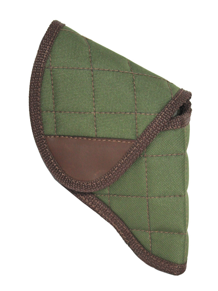 """Holster store: Woodland Green Flap Holster for Snub Nose 2"""" 22 38 357 41 44 Revolvers"""