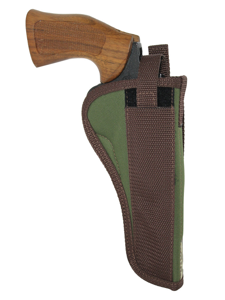 """Woodland Green OWB Holster for 6"""" 22 38 357 41 44 Revolvers"""
