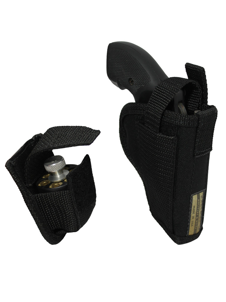 "OWB Holster + Speed-loader Pouch for 2"", Snub-Nose .38 .357 Revolvers"