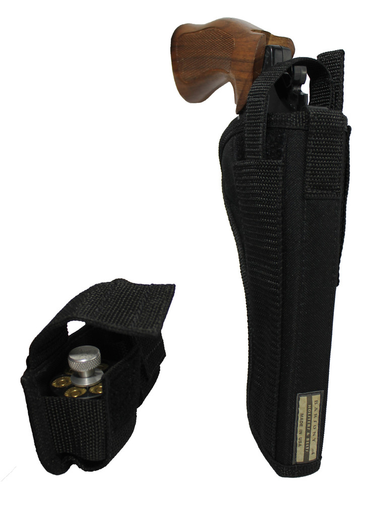 "Outside the Waistband Holster + Speed-loader Pouch for 6"" 22 38 357 41 44 Revolvers"