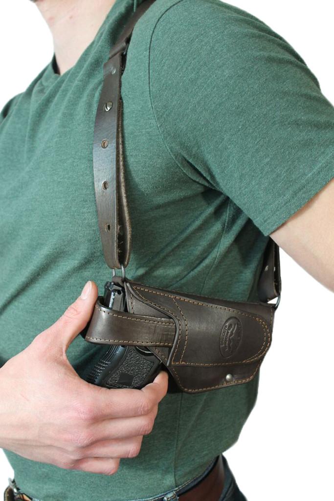 leather thumb-break ambidextrous holster