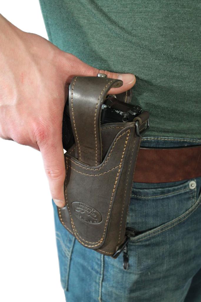 leather ambidextrous thumb-break holster