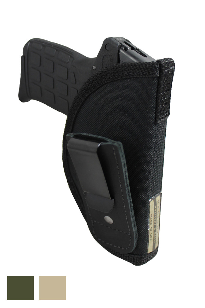 New Tuckable Inside the Waistband Holster for .380 Ultra Compact 9mm .40 .45 Pistols with LASER