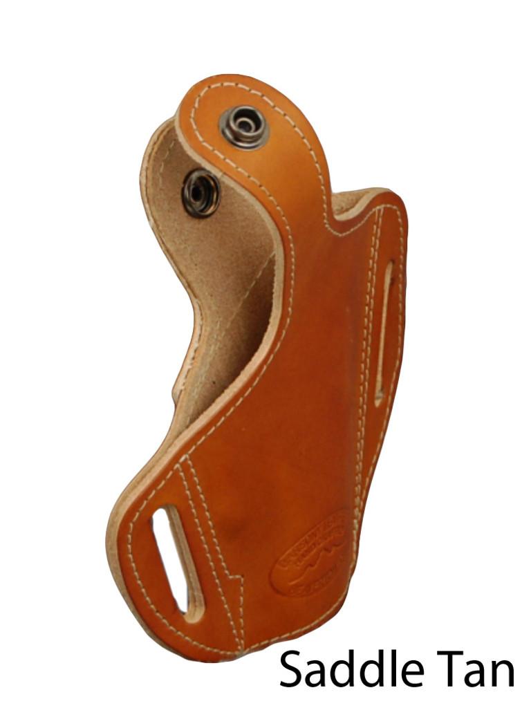 saddle tan leather pancake holster