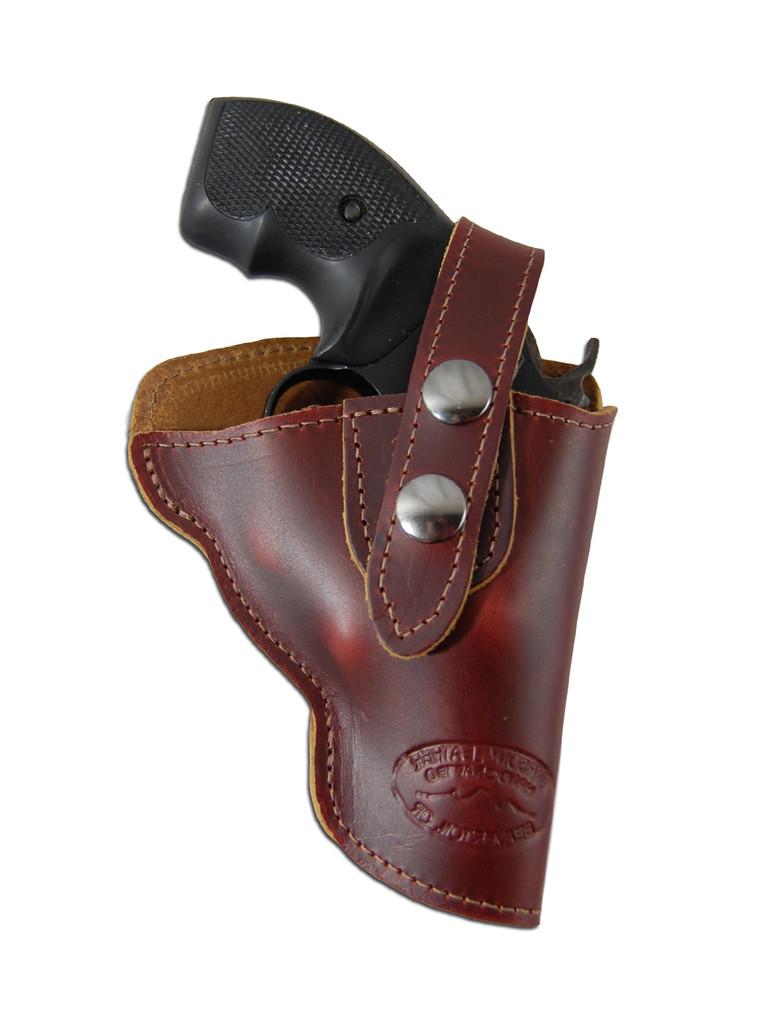 "Burgundy Leather OWB Holster for Snub Nose 2"" Revolvers"