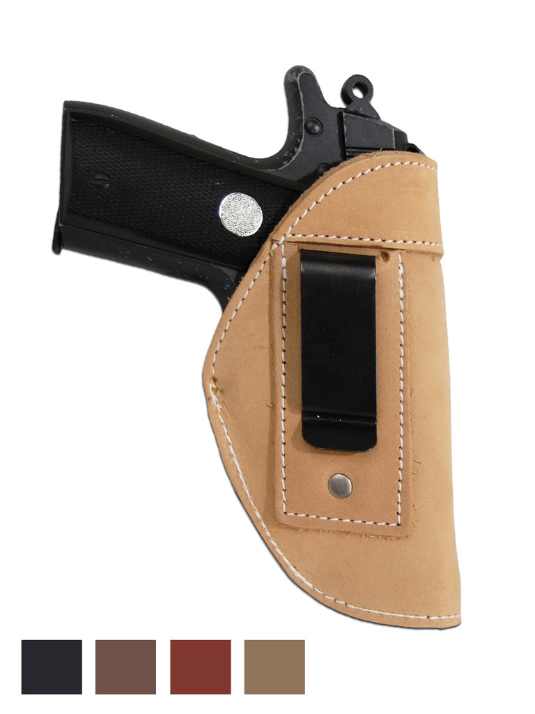 Leather Inside the Waistband Holster for 380, Ultra Compact 9mm 40 45 Pistols