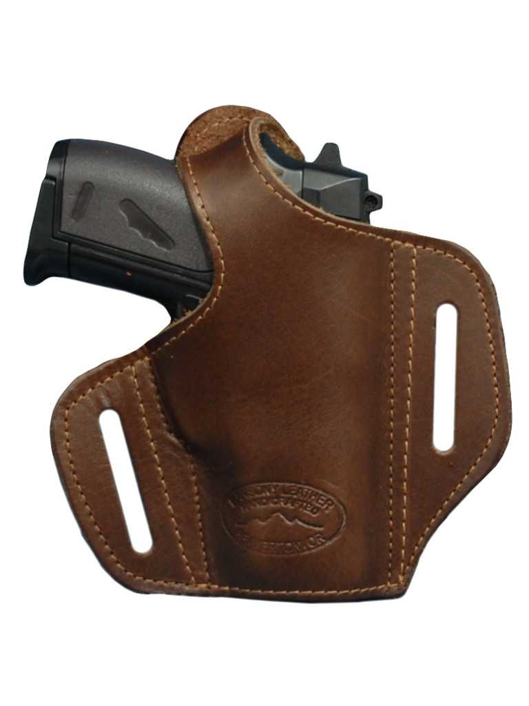 Brown Leather Pancake Holster for Mini/Pocket 22 25 32 380 Pistols