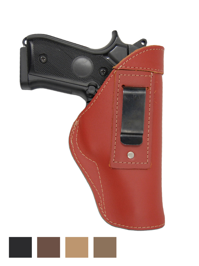 Leather Inside the Waistband Holster for Full Size 9mm 40 45 Pistols
