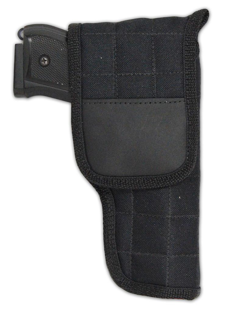 black flap holster