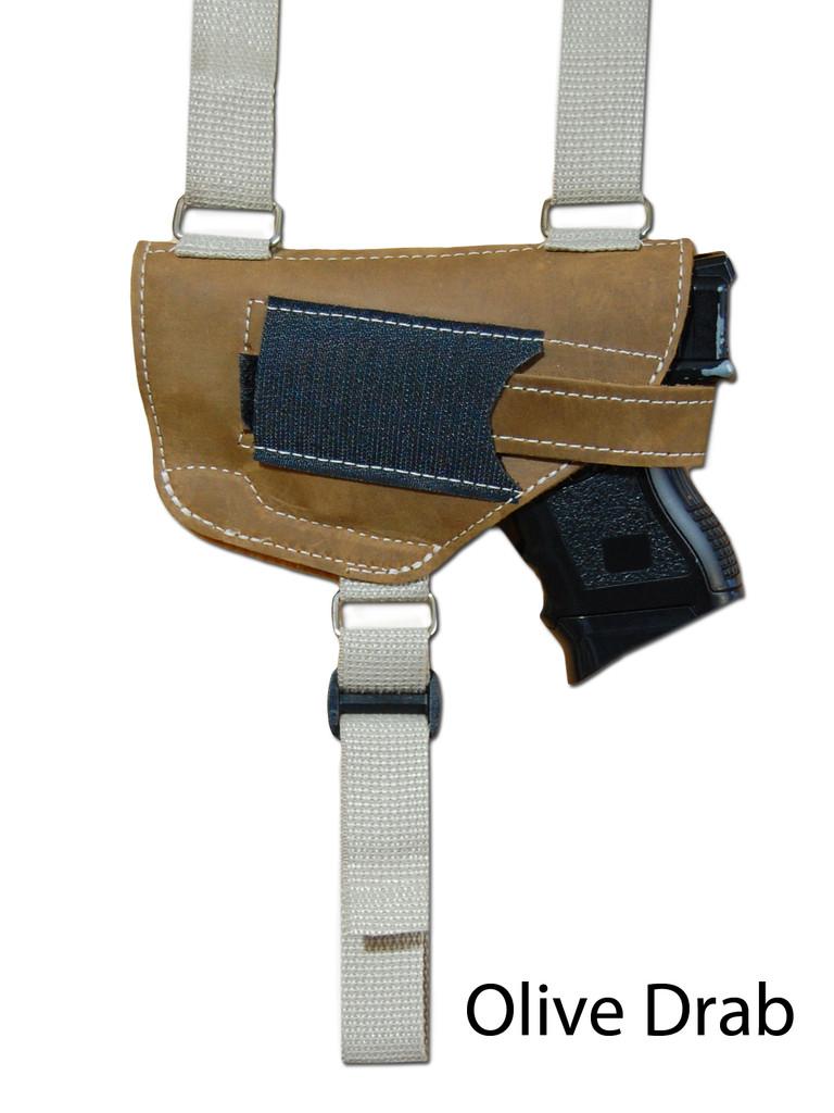 olive drab leather shoulder holster