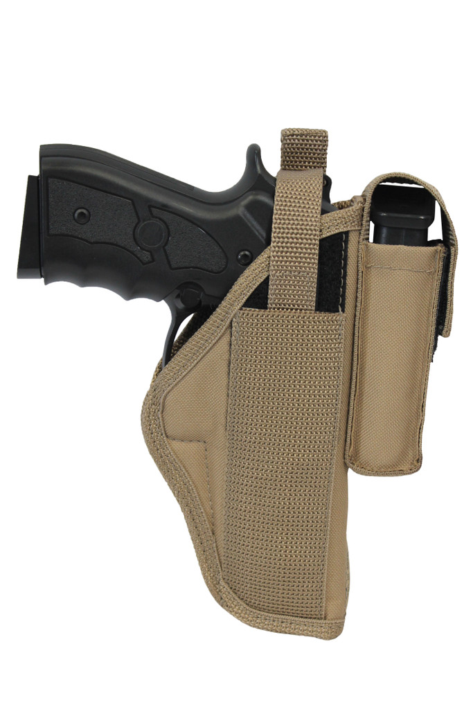 desert sand OWB holster with magazine pouch
