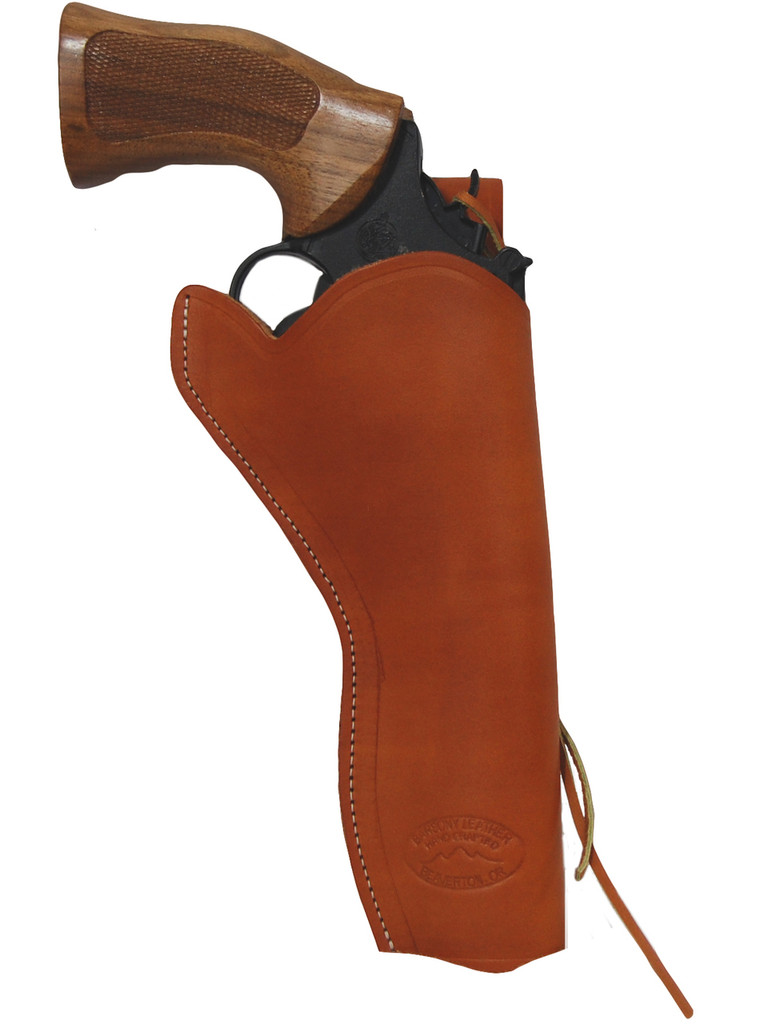 """Tan Leather 49er Western Style Holster for 6"""" Revolvers"""