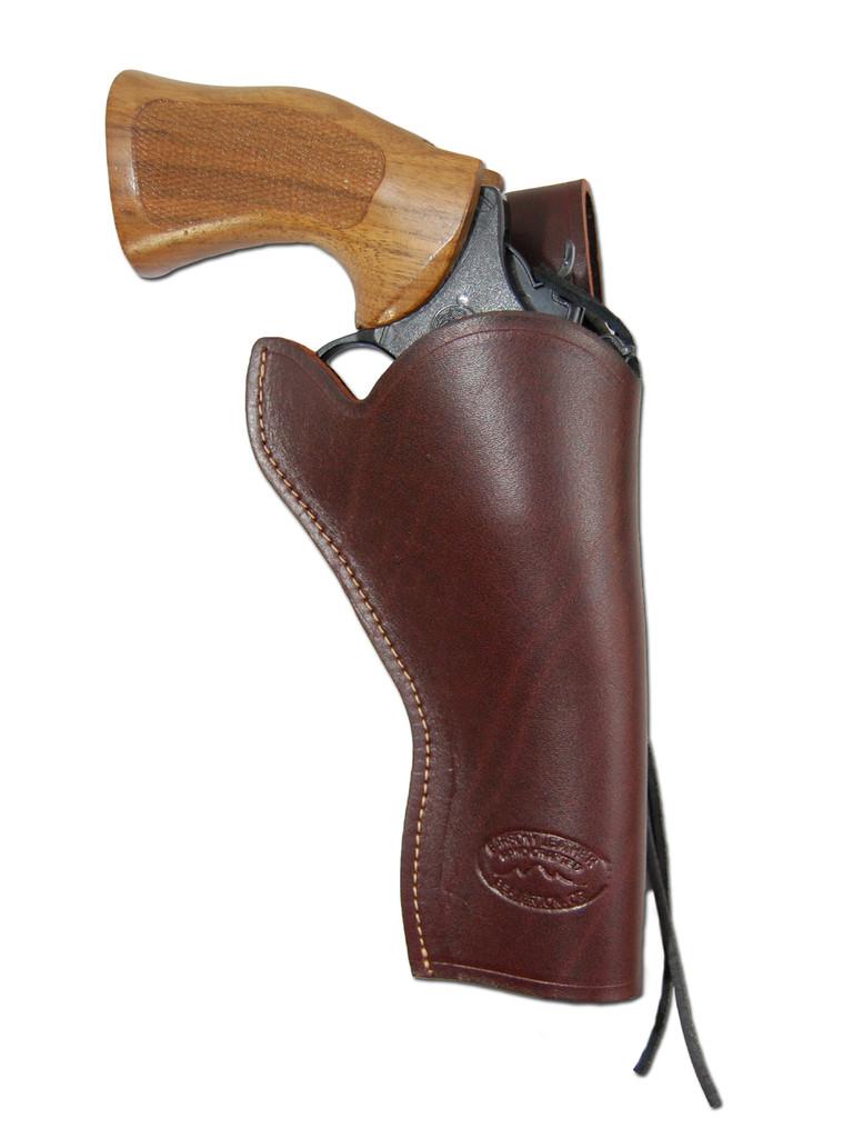 "Burgundy Leather 49er Western Style Holster for 4"" Revolvers"