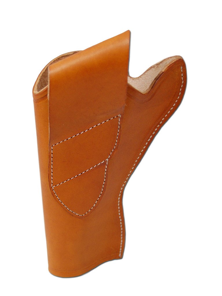 """New Saddle Tan Leather Cross Draw Holster for 4"""" Revolvers (#CR4ST)"""
