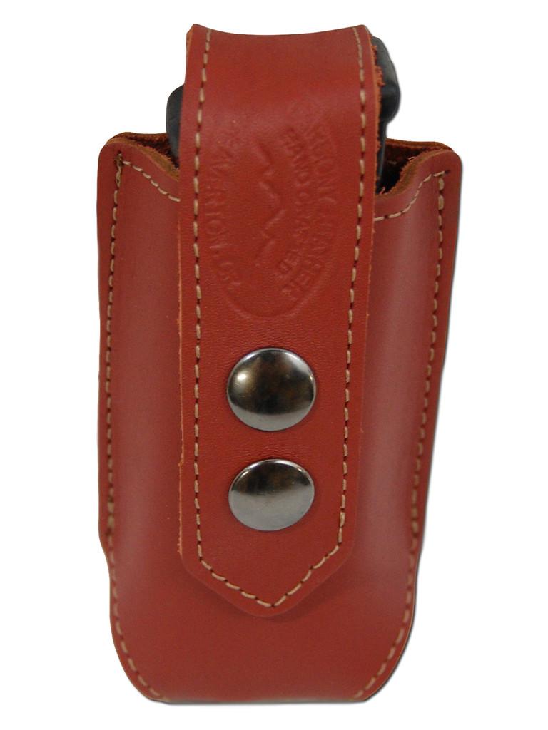 Burgundy Leather Single Magazine Pouch