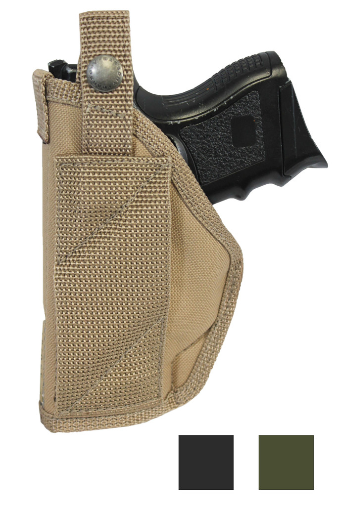 Cross Draw Holster Compact, Sub-Compact 9mm 40 45 Pistols - available in black, desert sand and woodland green