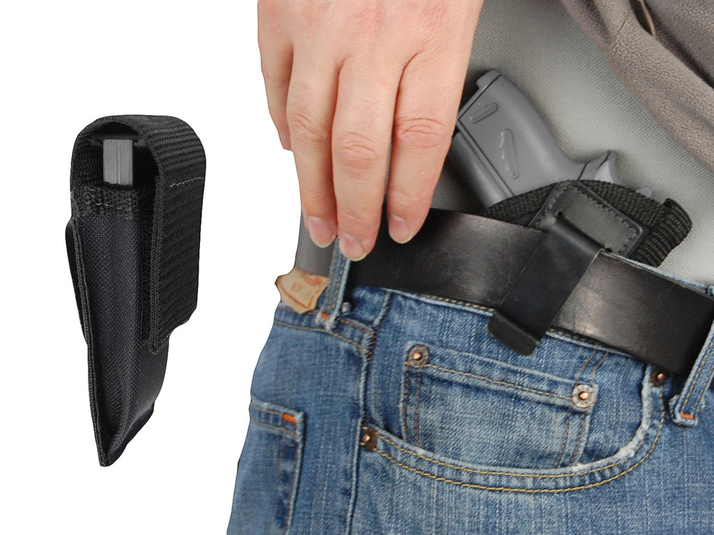 inside the waistband with magazine pouch