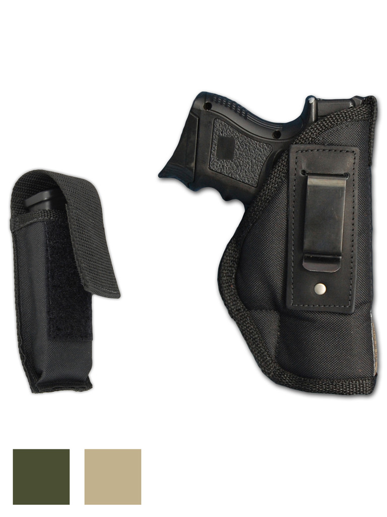 Inside the Waistband Holster + Single Magazine Pouch for Compact Sub-Compact 9mm .40 .45 Pistols