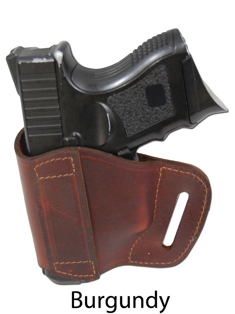burgundy leather yaqui holster