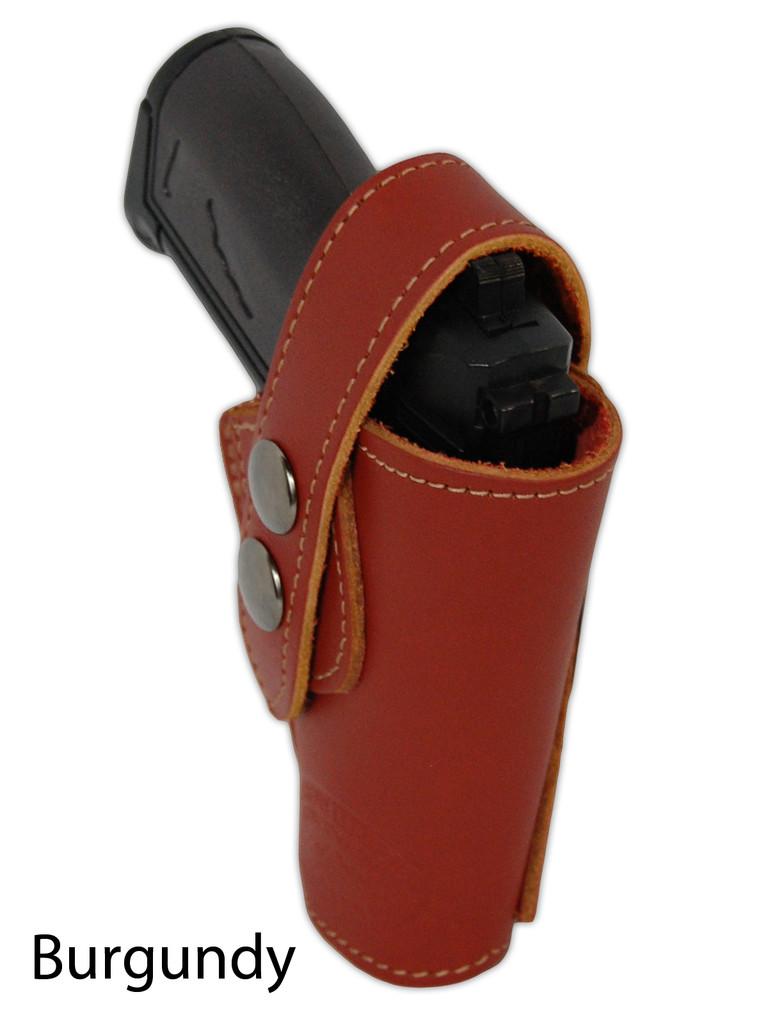 burgundy leather OWB holster