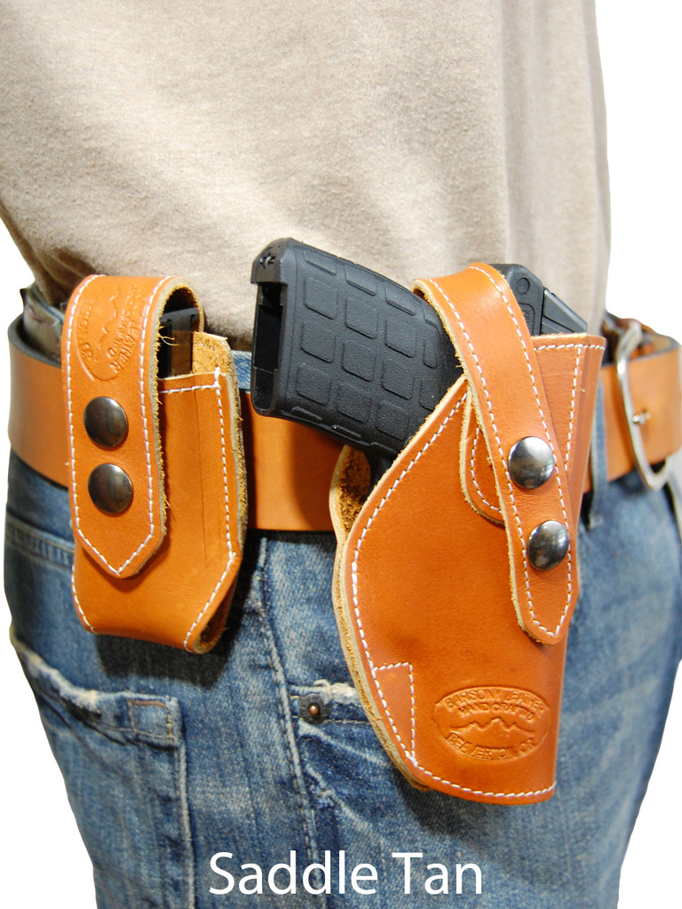 saddle tan leather OWB holster