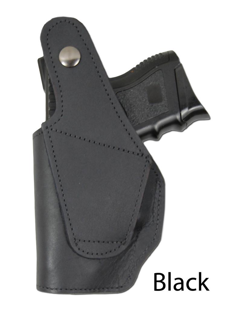 black leather OWB holster