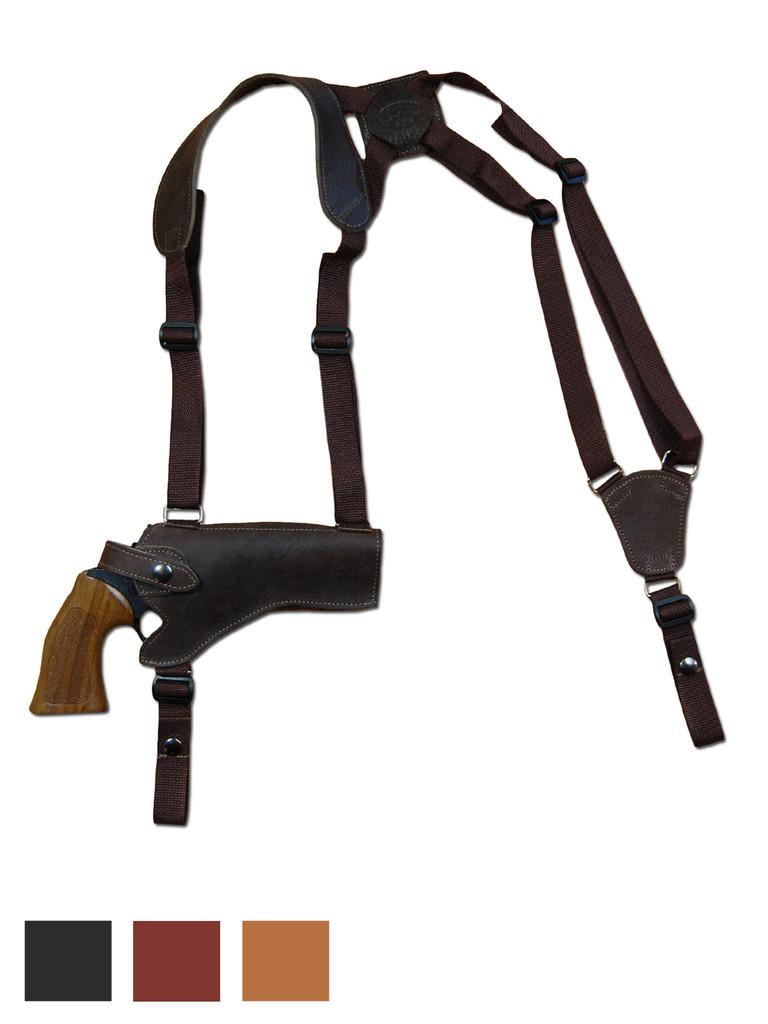 "Leather Horizontal Shoulder Holster for 4"" Revolvers"
