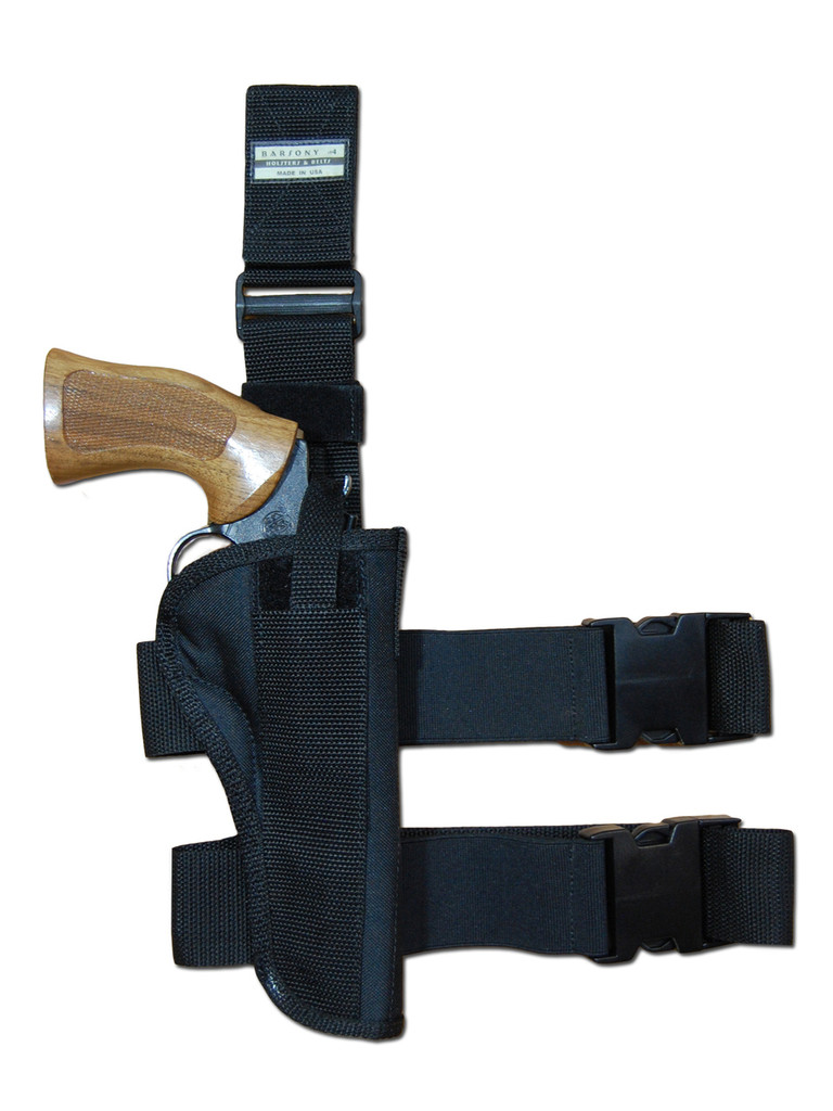 """Tactical Leg Holster for 4"""" .38 .357 .41 .44 Revolvers"""
