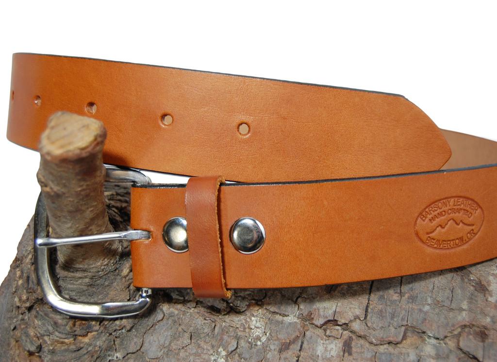 saddle tan leather belt