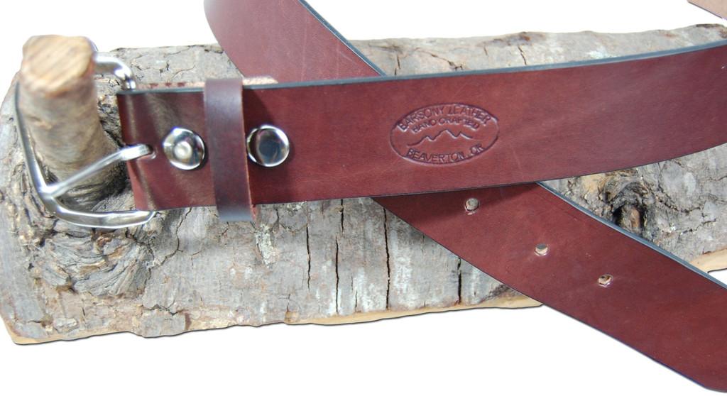 heavy duty leather belt