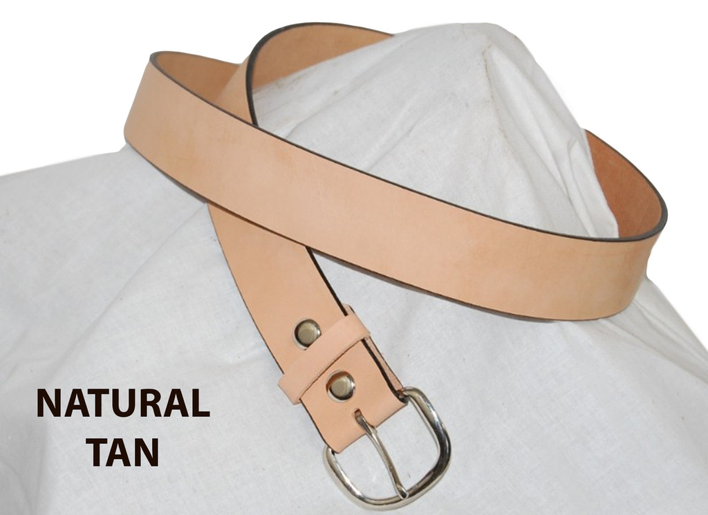 natural tan leather belt