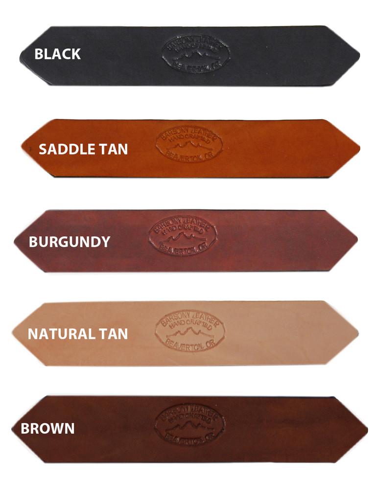 "1 3/4"" Heavy Duty Leather Belts for Sizes 54"" - 62"""