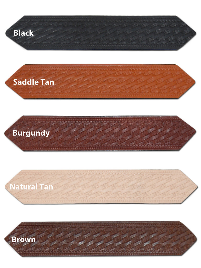"""1 1/2"""" Basket-weave Leather Belts for Sizes 39"""" - 46"""""""