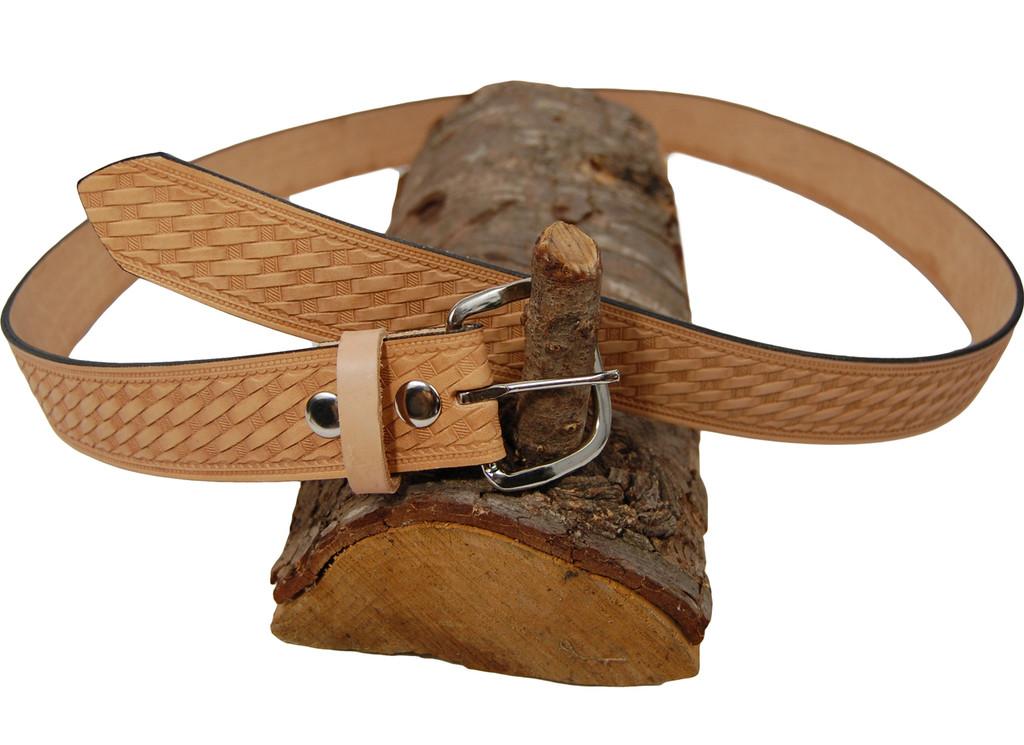 natural tan leather belt